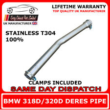 BMW 320D / 318D Mid silencer replacement pipe centre box delete de-res pipe