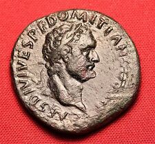 Ancient Roman Domitian AS