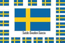 Assortiment lot de 25 autocollants Vinyle stickers drapeau Suède-Sweden-Suecia