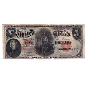 * 1907 $5 Red Seal United States Large Note H4