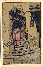 Rothenburg O. T., portal in the courtyard, Stone Print AK, um 1930