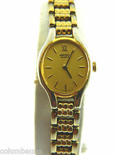 SEIKO OVAL REAL PETITE SLIM FACE  WOMEN'S WATCH/GOLD TONE CASE/#2Y0-5299