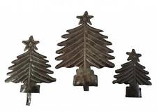 "Haitian Metal Wall Art Handcrafted Sculpture Hanging Table 6"" Christmas Tree Set"