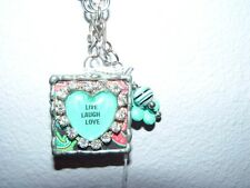QUOTE NECKLACE LIVE LAUGH LOVE HEART Link Chain NEW Gift Box Retail $52