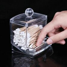 Acrylic Cotton Swabs Stick Storage Case Q-tip Holder Cosmetic Makeup Case Box