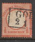 GERMANY 1872 SG 3 1/2 Groc. Type A Cat $110+ Good Cancel FINE USED