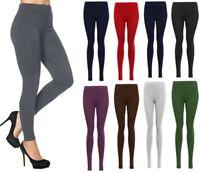 Ladies Women Viscose Plain Stretchy Soft Leggings Elasticated Waist Plus Size