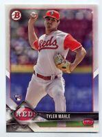 2018 Bowman TYLER MAHLE #32 Rookie Card RC LOGO PROSPECT Cincinnati Reds RARE