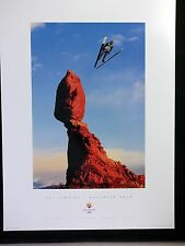 SLC 2002 Poster Sports Series SKI JUMPING balanced rock