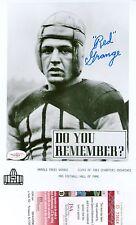 ~RED GRANGE Signed Official HOF 8X10 Photo Fighting Illini, Chicago Bears JSA~