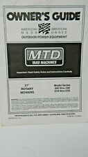 MTD Yard Machines Model 330-338 & 510-518 Owners Manual