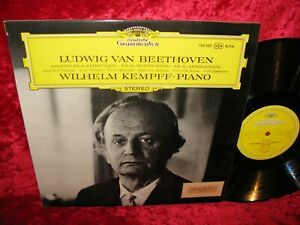 1965 UK NM DG 139 300 STEREO BEETHOVEN PIANO SONATAS 8,14,23 KEMPFF COVER EXC+