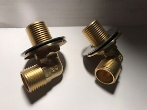 "Regency Wall Mount Faucet Installation Kit 1/2"" Inlet Commercial Sink Brass"