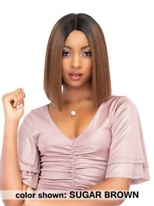 TEAH - Synthetic Extended Deep Part Lace Wig by Janet Collection