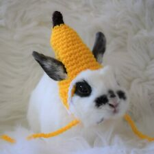 Banana Hat for Pet Rabbits, SIZE SMALL, Pet Rabbit Beanies and Hats
