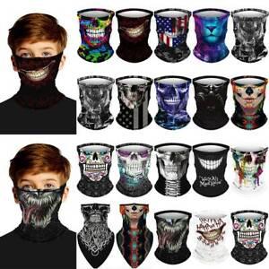 Kids 3D Skull Venom Face Cover Mask Neck Warmer Festival Balaclava Bandana HOT