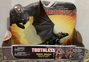 How train Your Dragon 2 TOOTHLESS Power Dragon Racing Stripes w/ Wing Action NEW