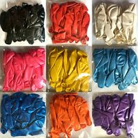 New Latex Standard Premium Quality Air Balloons Party Wedding Birthday 9 Colors