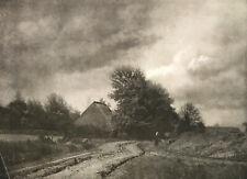 Leonard Misonne 1870-1943 Paysage Flamand 1920