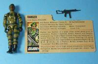 1982 GI Joe Army Ranger Stalker v1 Figure w/ File Card *WRONG ARMS* READ