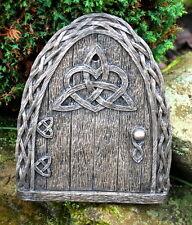 Large Celtic Fairy Door for Garden Faeries Elfs Pixies In/outdoor Bronze Finish