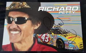 RICHARD PETTY ***HAND SIGNED*** #43 CHEERIOS DODGE HERO CARD #4G