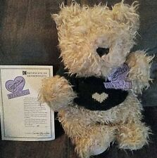 """Annette Funicello collectible bear """"Jessica"""" With Certificate Of Authenticity"""