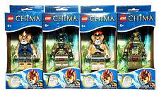 4 Lego Legends of Chima Retractable Pens Laval, Cragger, Leonidas & Crawley