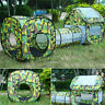 3 In 1 Camouflage Indoor Outdoor Children Tent Kids Playhouse Tunnel Tube Toy