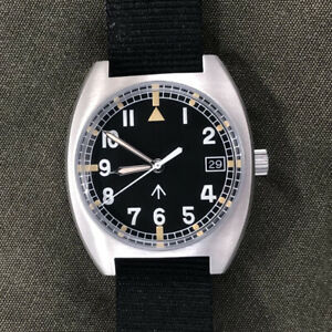 Men's Pilot Military Watches Male Automatic NH35 Mov't Wristwatch Sapphire Glass