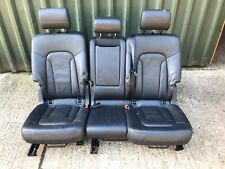 AUDI Q7 4L S-LINE 2ND ROW REAR SEATS BLACK LEATHER INTERIOR 06-15 GENUINE