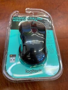 Logitech Advanced Full Size Wireless Mouse Black 910-005486