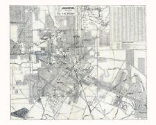 1913 Map of Houston Texas
