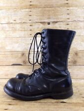 "Vtg Corcoran Paratrooper Jump Boots 6.5 EE Black Leather 10"" Lace Up Military"