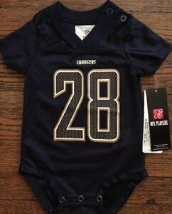 NWT Los Angeles Chargers Melvin Gordon Infant Creeper Jersey 0-3  or 3-6 Months