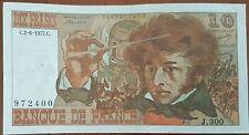 Billet 10 francs Hector BERLIOZ 2 - 6 - 1977 FRANCE J.300