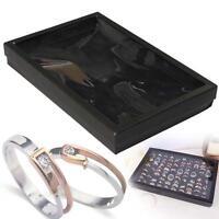 100 Slots Jewelry Earring Ring Display Organizer Box Tray Holder Storage Case KJ