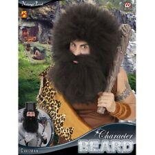 VOLLBART SCHWARZ Karneval Barbar Caveman Gentleman Doktor Bart Kostüm Party 0811