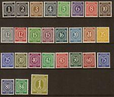 1946 Allied Zone Deutsche Post 1pf to 1M mint hinged