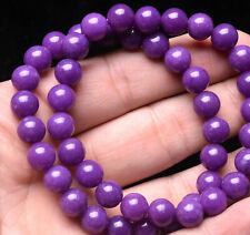 8mm 2Pcs Natural Phosphosiderite Purple Gemstone Round Beads Bracelet AAAA