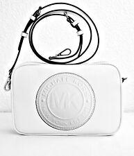 Michael Kors Shoulder Bag Fulton Sports LG Ew cross Body White Leather New