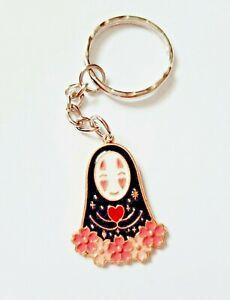 KAONASHI No-Face Flowers Spirited Away Faceless Womans Keychain Keyring Gift UK