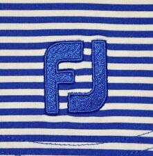 Mens Euc Blue Striped Foot Joy Technical Golf Polo Shirt size Xl