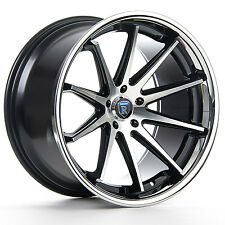 "20"" ROHANA RC10 MACHINE BLACK CONCAVE WHEELS FOR INFINITI G37 COUPE"