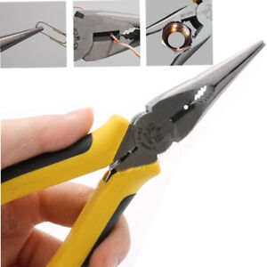 """6"""" inch Heavy Duty Long Nose Plier Spring Hand Tool Fishing Craft Wire Cutter"""