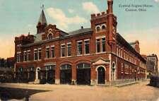 Canton Ohio Central Engine House Street View Antique Postcard K87828