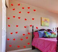 Heart Wall Decals removable sticker set art decor mural girls kids nursery room