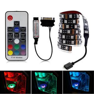 5050 RGB LED Strip tape Light PC Sata Computer Case Full Kit RF Remote Control
