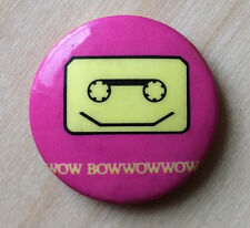 RARE Vintage 1980 BOW WOW WOW badge Your Cassette Pet button pin Annabella Lwin