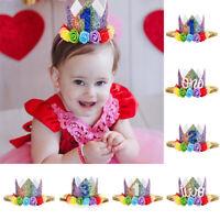 de cheveux coiffure princesse bébé bandeau rainbow couronne chapeau de fête